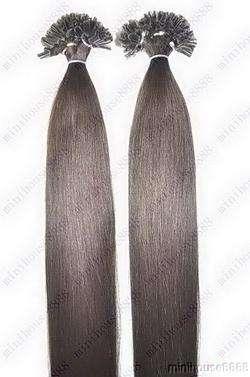 PERFEKTVLASY - KERATIN EXTENSION 100 pramenů TMAVĚ HNĚDÁ #02,50g, 55cm, 100% lidské vlasy k prodloužení