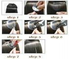 VLASY - KERATIN EXTENSION 100 pramenů TMAVĚ HNĚDÁ vlnitá #02, 50g, 50cm, 100% lidské vlasy k prodloužení