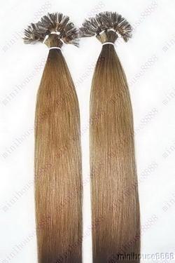 PERFEKTVLASY- KERATIN INDIAN REMY EXTENSION 100 pramenů SVĚTLE HNĚDÁ #12,80g, 50cm, 100% lidské vlasy k prodloužení