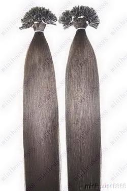 PERFEKTVLASY- KERATIN INDIAN REMY EXTENSION 100 pramenů TMAVĚ HNĚDÁ #02,100g, 55cm, 100% lidské vlasy k prodloužení