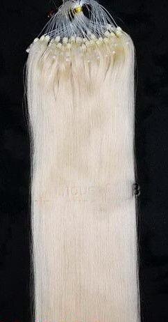 PERFEKTVLASY- MICRO RING INDIAN REMY 100 pramenů SV. BLOND #60, 100g, 55cm, lidské vlasy k prodloužení