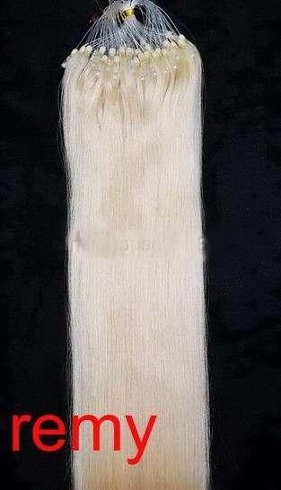 PERFEKTVLASY-MICRO RING 100 pramenů BLOND #613, 50g, 55cm,100% lidské vlasy k prodloužení
