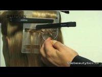 CLIP IN,KERATIN,MICRO RING-VLASOVÉ PÁSKY Balmain DoubleHair - dvojitá struktura vlasů,3 aplikační metody,černá, 40cm
