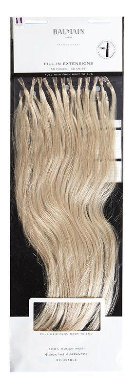 KERATIN Balmain Fill in Extensions,rovné,č.L10 světlá blond 50ks 55cm