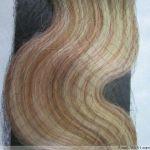 CLIP IN 7pásů BLOND MELÍR vlnité #27/613, 75g, 55cm, 100% lidské vlasy k prodloužení