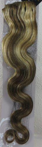 CLIP IN 7pásů BLOND MELÍR vlnité #8/613, 75g, 55cm, 100% lidské vlasy k prodloužení