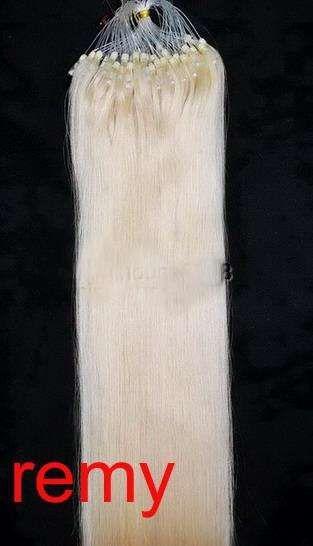PERFEKTVLASY-MICRO RING 100 pramenů BLOND #613, 50g, 45cm,100% lidské vlasy k prodloužení
