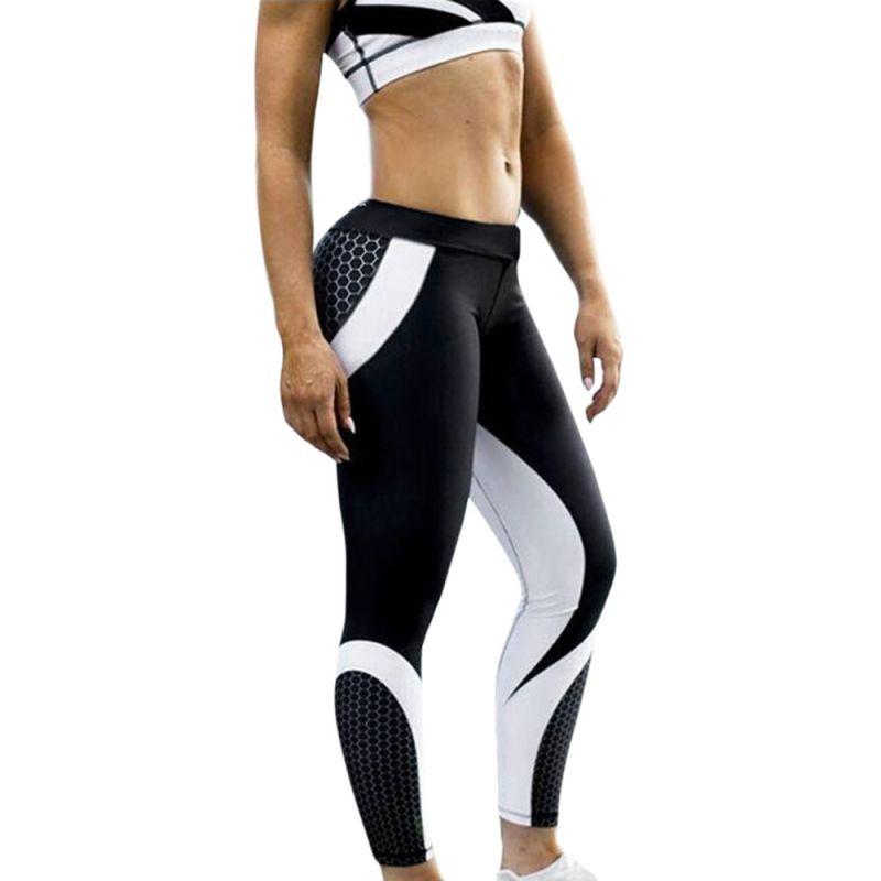 Dámské sportovní legíny- černo-bílé Perfektvlasy