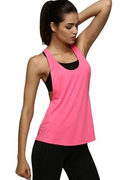 Dámský sportovní top -Dry Quick růžový,vrchní Perfektvlasy
