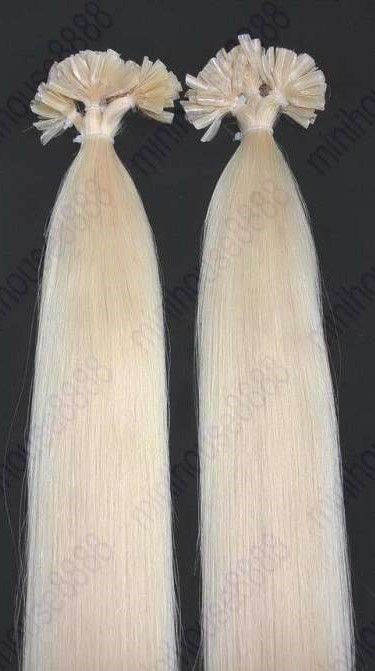 KERATIN INDIAN REMY EXTENSION 100 pramenů SVĚTLÁ BLOND #60,100g, 55cm, 100% lidské vlasy k prodloužení PERFEKTVLASY