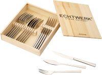 Sada příborů ECHTWERK-Orléans na steak a ryby 18 ks v dřevěné krabičce ECHTWERK