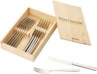 Sada steakových příborů ECHTWERK 12ks v dřevěné krabičce