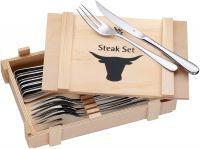 WMF Sada steakových příborů 12 ks v dřevěné krabičce